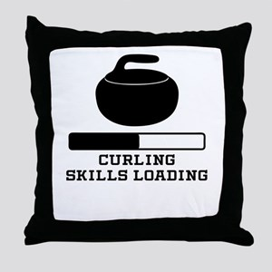 Curling Skills Loading Throw Pillow